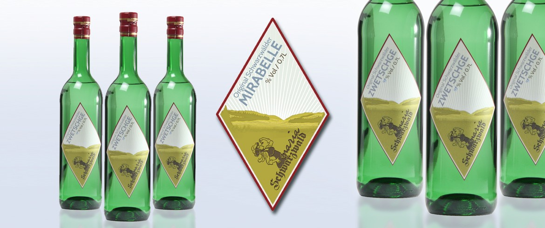 Etiketten-Design Schwarzwald-Maria